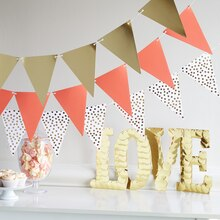Paper Craft-It™ Coral and Gold Paper Banner, medium