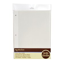 White Photo Album Refills by Recollections Pack