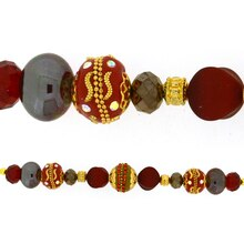 Jesse James Beads Red, Brown & Gold Strand