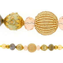 Jesse James Beads Peach, Ivory & Gold Strand