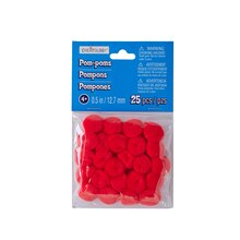 "1/2"" Red Pom Poms by Creatology"