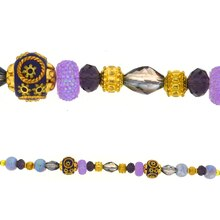 Jesse James Beads Purple & Gold Strand
