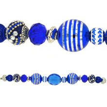 Jesse James Beads Bright Blue & Silver Strand