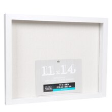 "White Belmont Shadowbox by Studio Décor, 11"" x 14"", Angled"