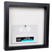 "Black Belmont Shadowbox by Studio Décor, 9"" x 9"", Angled"