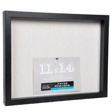 "Black Belmont Shadowbox by Studio Décor, 11"" x 14"", Angled"