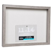 "Gray Belmont Shadowbox by Studio Décor, 11"" x 14"", Angled"