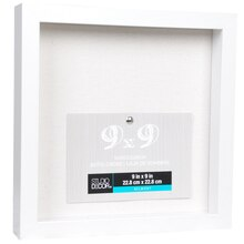 "White Belmont Shadowbox by Studio Décor, 9"" x 9"",  Angled"