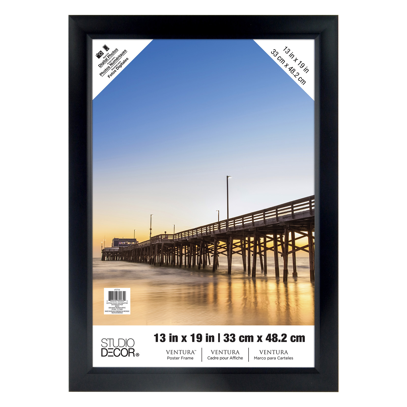 Cheap movie poster with frame