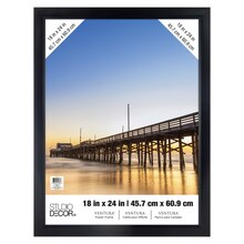 "Black Ventura Poster Frame by Studio Decor, 18"" x 24"""