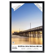 "Black Ventura Poster Frame by Studio Decor, 22.375"" x 34"""