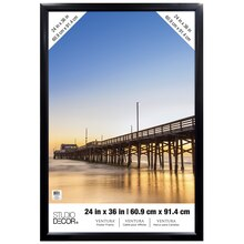 "Black Ventura Poster Frame by Studio Decor, 24"" x 36"""