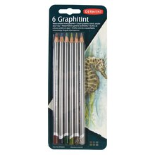 Derwent Graphitint Pencils 6 Color Blister Pack