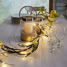 Apothecary & Company Decorative LED Twig Garland, On Table