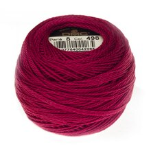 DMC Size 8 Pearl Cotton Ball, 498 DK Red
