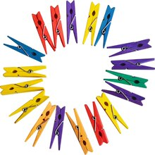 Mini Multicolor Clothespins by Creatology