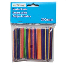 Multicolor Mini Wooden Dowels by Creatology