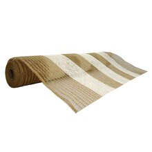 "Stripe Jute Mesh Ribbon by Celebrate It Occasions, Taupe 21"" x 18ft."