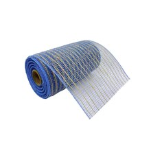 "Denim & Natural Jute Mesh Ribbon by Celebrate It, 5.5"" x 24ft."