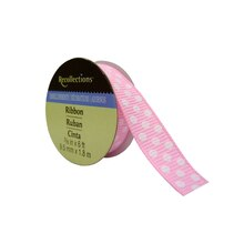"3/8"" Polka Dots Grosgrain Ribbon by Recollections, Pink"