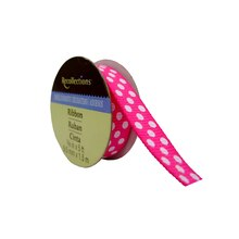 Hot Pink Polka Dots Grosgrain Ribbon by Recollections