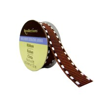 Chocolate Double Stitched Grosgrain Ribbon by Recollections