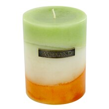 "3"" x 4"" Ginger Citrus Zig Zag Pillar Candle by Ashland Decor Scents"