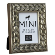 "Silver Coin Mini Frame by Studio Decor, 2.5"" x 3.5"""