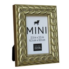 "Gold Coin Mini Frame by Studio Decor, 2.5"" x 3.5"""