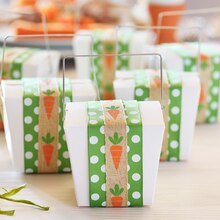 Easter Carrot Take Out Box Favor, medium