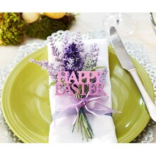 Lavender Happy Easter Place Setting, medium