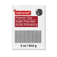2 oz. Polymer Clay by Craft Smart, Silver