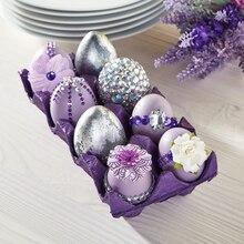 Lavender Easter Gemstone Eggs, medium