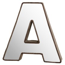 "Make Market 3D Metal With Mirror Front Letter, 9"" A"