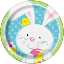 """9"""" Spring Easter Bunny Party Plates, 8ct"""