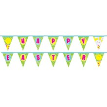 Spring Easter Bunny Pennant Banner, 14 Ft.