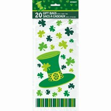 Lucky Stripes St. Patrick's Day Cellophane Bags, 20ct