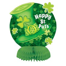 Mini Lucky Stripes St. Patrick's Day Centerpiece Decorations, 4ct