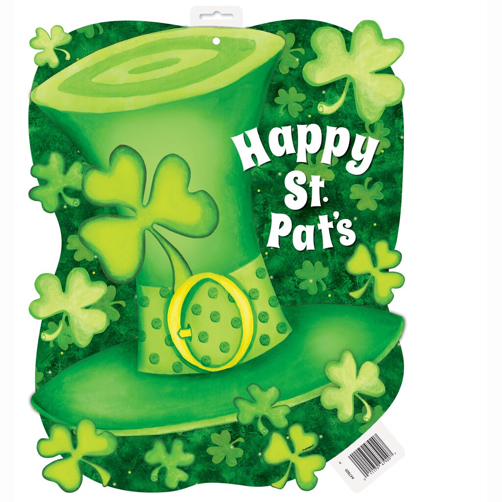Lucky stripes st patrick 39 s day cut out decoration st for Decoration saint patrick