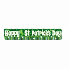 Jointed Lucky Stripes St. Patrick's Day Banner