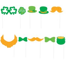 St. Patrick's Day Photo Booth Props, 10pc