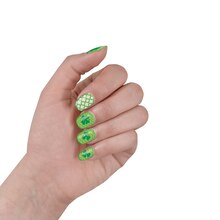 St. Patrick's Day Shamrock Nail Stickers, 2 sets