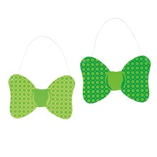 St. Patrick's Day Paper Bow Ties, Assorted 6ct