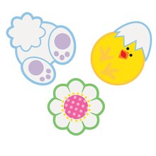 Paper Confetti Cut Out Easter Decorations, 24ct