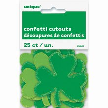 Paper Confetti Cut Out Shamrock St. Patrick's Day Decorations, 25ct