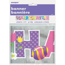 Foil Happy Easter Banner, 9 Ft.
