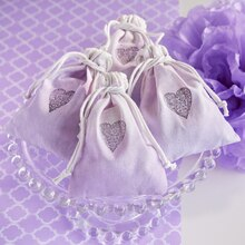 Paper Craft-It™ Lavender Heart-Stamped Treat Bag, medium