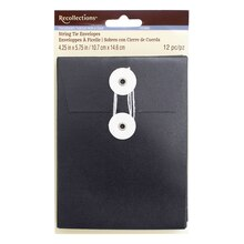 Chalkboard String Tie Envelopes by Recollections