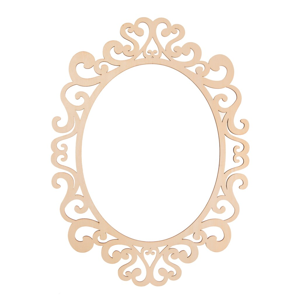 Fancy Oval Laser Cut Wood Frame By Artminds 174 11 Quot X 14 Quot