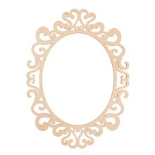 fancy oval laser cut wood frame by artminds